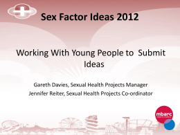 Sex Factors 2012 - London Sexual Health Programme