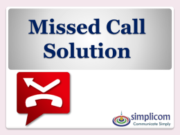Missed Call Solution