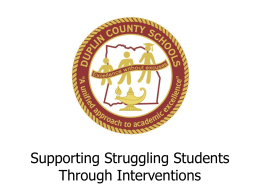 PPT.Interventions - Duplin County Schools