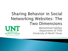 The Sharing Behavior in Social Networking Sites