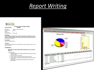 6. How to write a report.