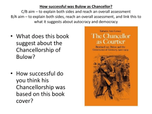 How successful was Bulow as Chancellor? C