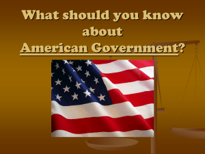 What should you know about American Government?