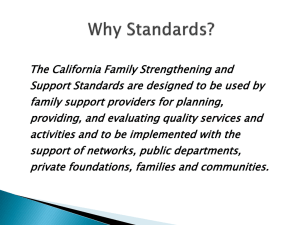 California Network of Family Strengthening Networks Standard