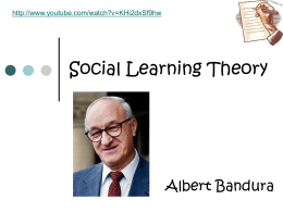 Social Learning Theory - PsychologyResources-Y13