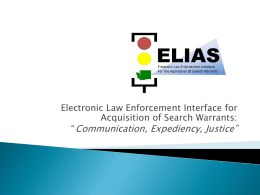 ELIAS - 2015 Traffic Records Forum
