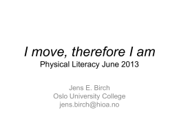 Jens Birch - Physical Literacy
