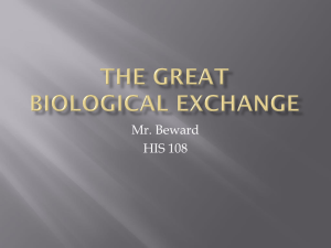 The Great Biological exchange