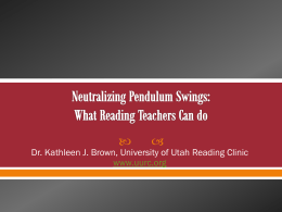 PowerPoint format - University of Utah Reading Clinic