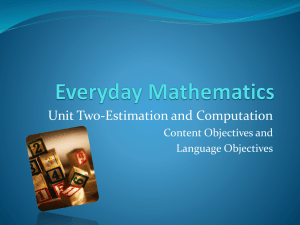 Unit_Two-Estimation_and_Computation Objectives
