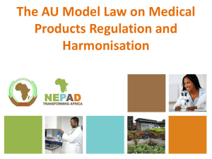 Model Law on Medical Products Regulation