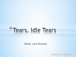 Tears, Idle Tears ppt