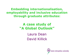 Embedding internationalisation, employability and inclusive