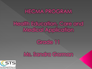 HECMA PROGRAM Health Education, Care for