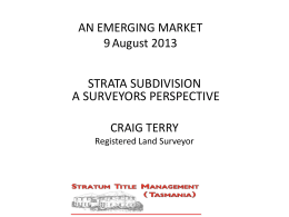 a surveyor`s perspective - Strata Community Australia