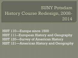 SUNY Potsdam History for General Education