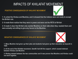 Impacts of Khilafat movement-G7 pak sst