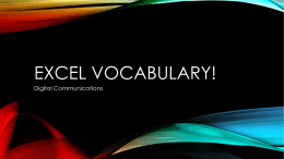 Excel vocabulary!