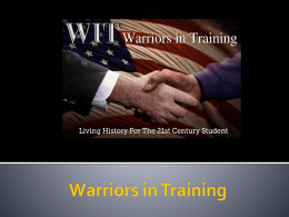 warriors in training program
