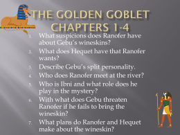 The Golden Goblet chapters 1-4