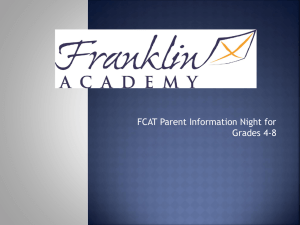 What is the FCAT?