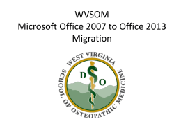 Microsoft Office 2007 to 2013 Migration