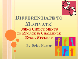 Differentiate to Motivate! - ebrprofessionaldevelopmentportal