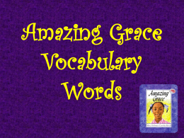 Amazing Grace Vocabulary Words