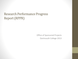 Research Performance Progress Report (RPPR)