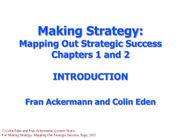 Introduction to Making Strategy