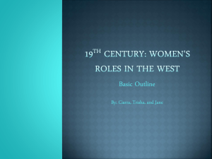 19th Century women`s roles in the west