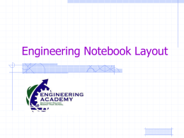 Engineering Notebook Layout