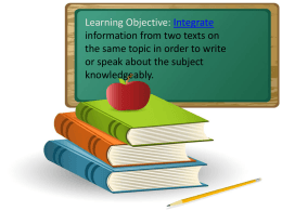 Integrate information from two texts