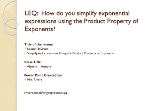 LEQ: What is the Product Property of Exponents?