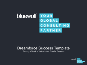 Dreamforce Success Template