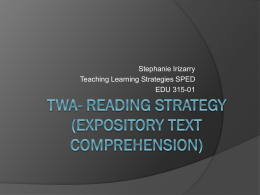 TWA- Reading Strategy