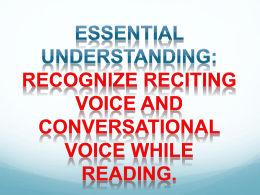 Reader`s Voices