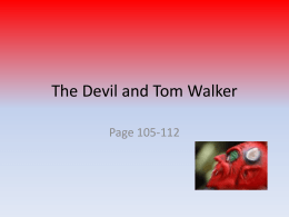 the devil and tom walker study guide questions