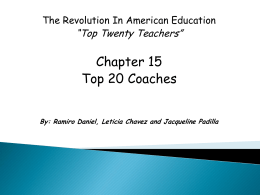 Chapter 15 Top 20 Teachers