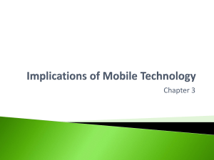 Implications of Mobile Technology