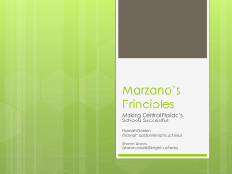 Marzano`s Principles - Standards