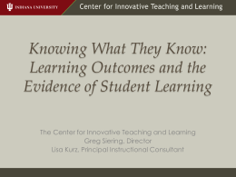 Knowing What They Know: Learning Outcomes and the Evidence of