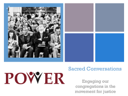 Sacred Conversations Powerpoint.