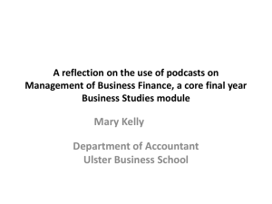 A reflection on the use of podcast on Management of