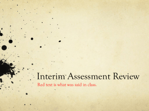 Interim Review PowerPoint - Ms. Robinson`s Classroom