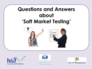 `Soft Market Testing` What is