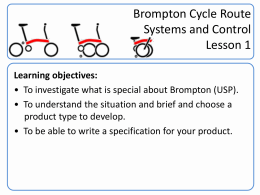 Lesson 1 - Brompton Bicycle