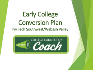 College Connection Coach Model ~ Southwest/Wabash Valley