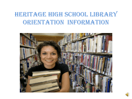Library Orientation Slide Show - Liberty Union High School District