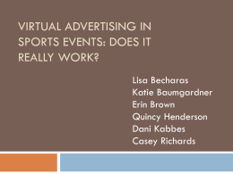 Virtual Advertising in sports events